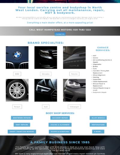 GARAGE WEBSITES